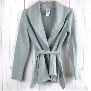 North Face Silver Wrap Cardigan Size M
